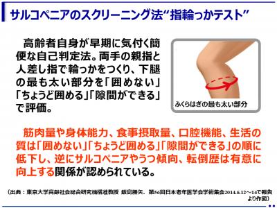 """(解説)サルコペニア(加齢に伴う筋肉量、筋機能の低下)および""""指輪っかテスト""""の紹介(healthy-life21.com)"""