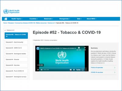 Tobacco & COVID-19(WHO)